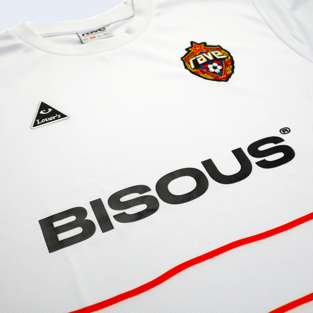 Rave x Bisous x Lover's FC Jersey White