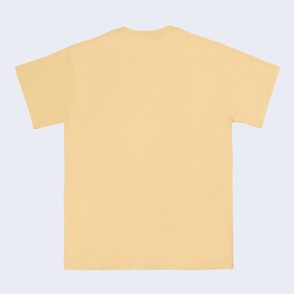 Scrawl Light Gold Tee