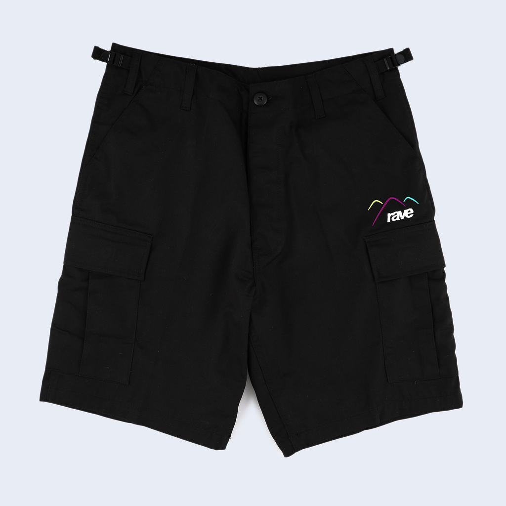 Summit Black Cargo Short