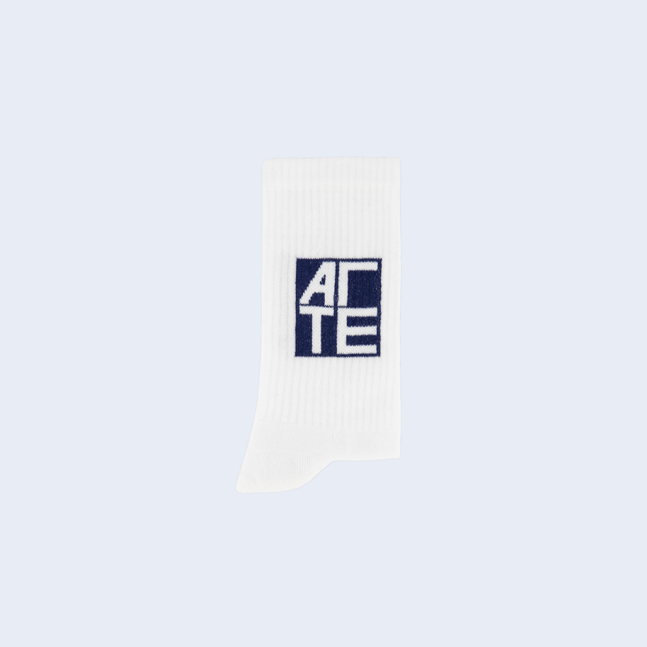 Socks Navy Square Logo