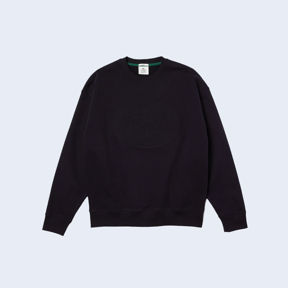 Embroidered Crewneck Navy