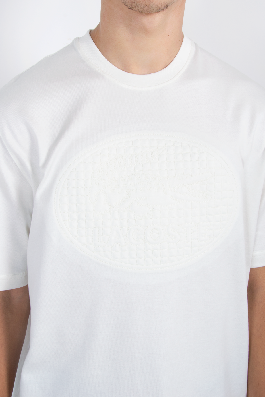 Embroidered Logo Tee White