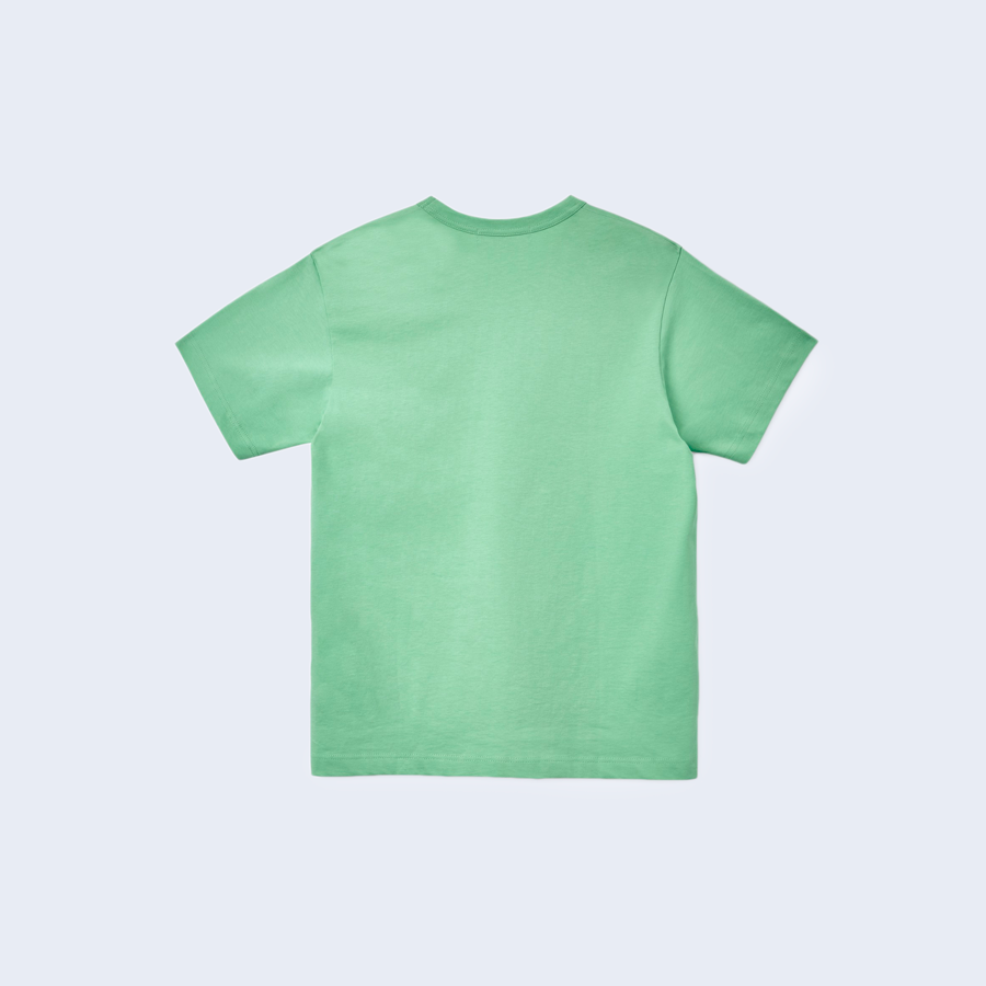Classic Tee Green Chest Print