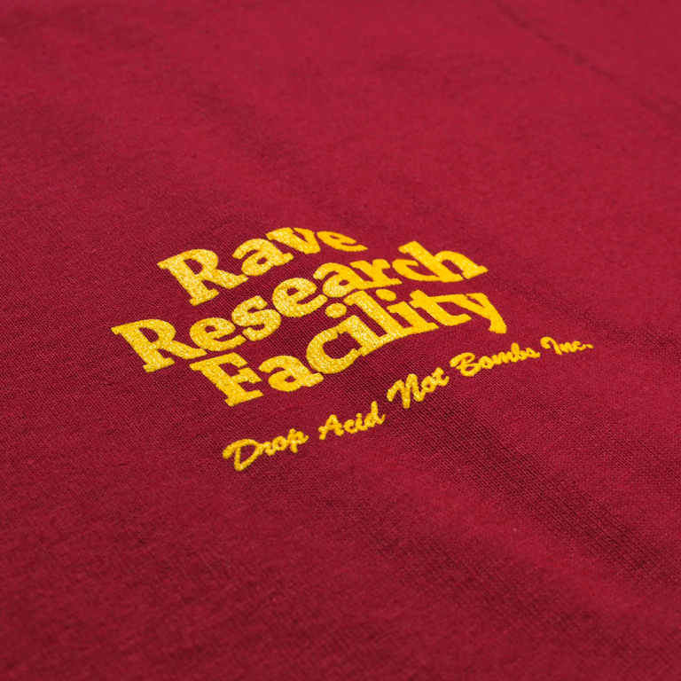 Rave Research Facility Tee Cardinal Red