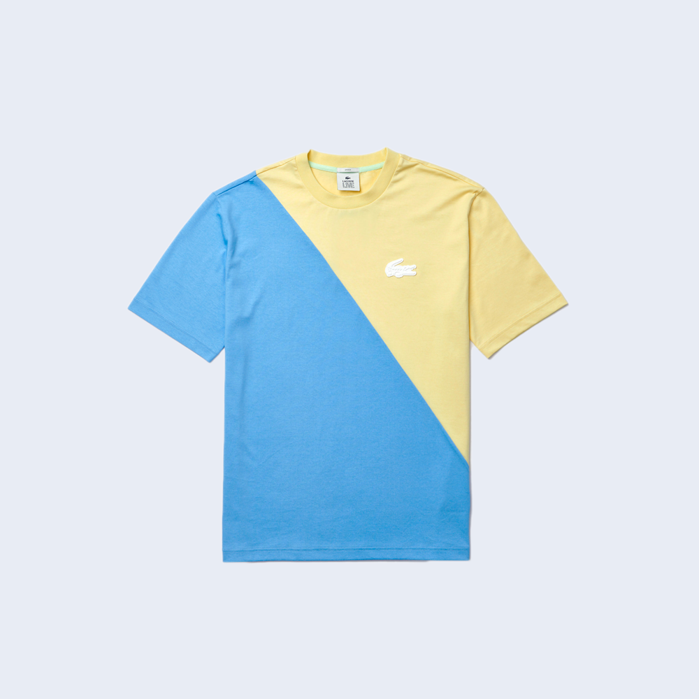 Two-colored Tee Blue / Yellow