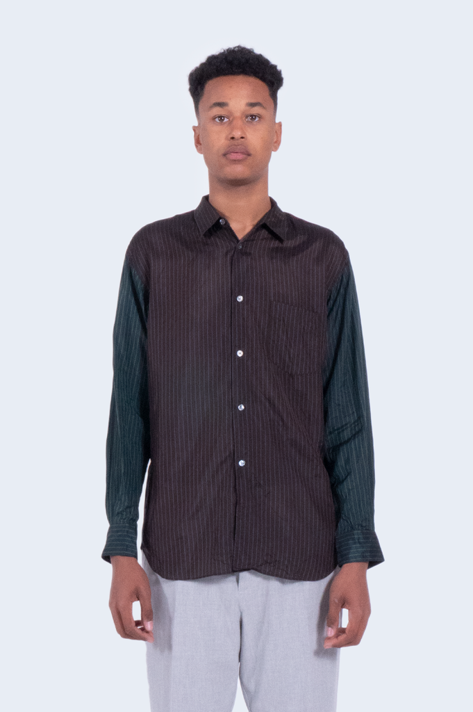 Stripes Shirt Brown/Green
