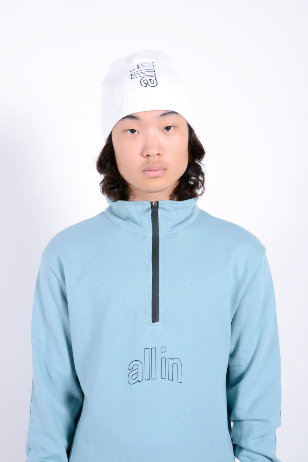 Half Zip Pull Over Blue Pastel