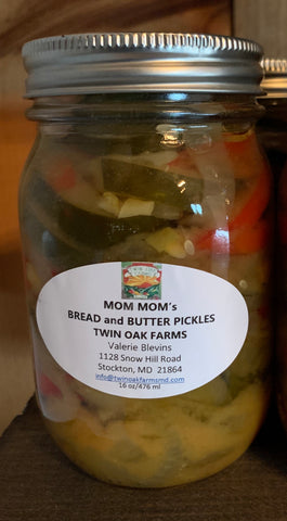 Mom Mom's Bread and Butter Pickles