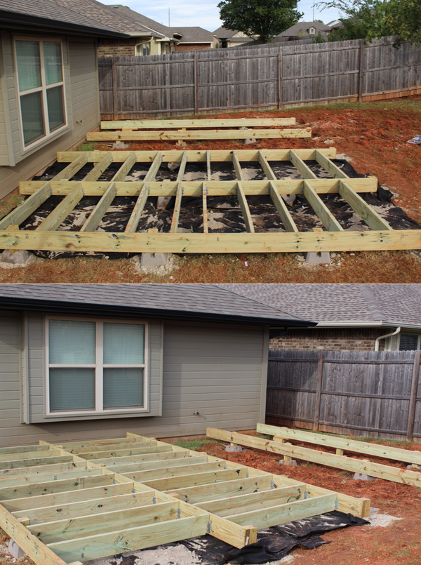 Backyard Makeover: Floating Deck - Phase 1 - Handmade ... on Floating Patio Ideas id=65373