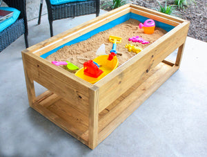 DIY Outdoor Coffee Table with Hidden Sandbox storage