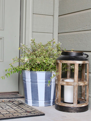 DIY Zinc Flower Pot