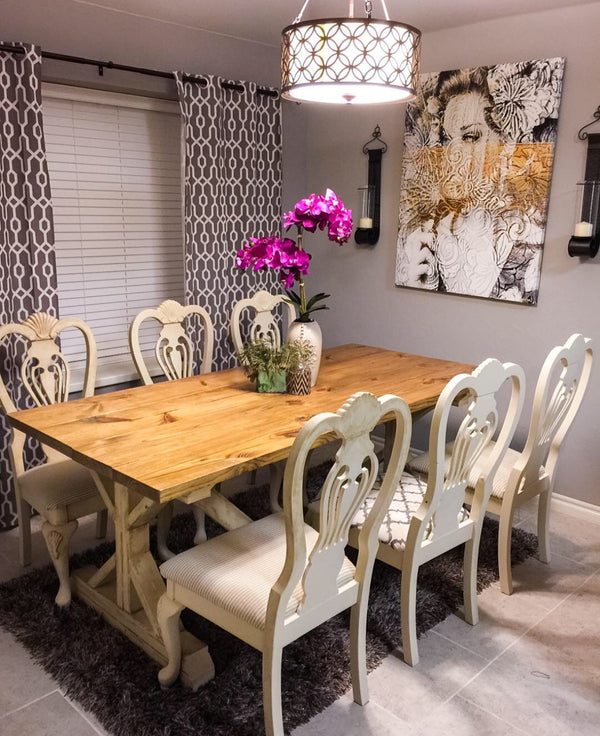 Ana White Dining Room Table: Ana White Trestle Dining Table