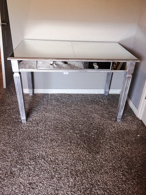 DIY Mirrored Vanity - Before and After