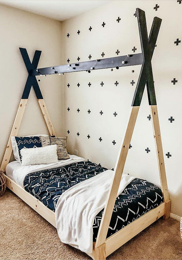 outlet store dd08a bcb94 DIY Kids Teepee Bed - Handmade Haven