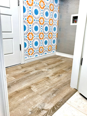Vinyl Floor Install - Laundry Room Makeover