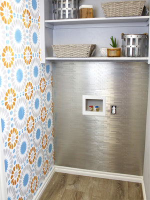 Peel and Stick Tile | Laundry Room Makeover