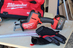 Milwaukee Brushless Cordless Hackzall with Carrying Case and Milwaukee Performance Work Gloves