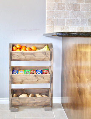 DIY Produce Stand for the Home kitchen