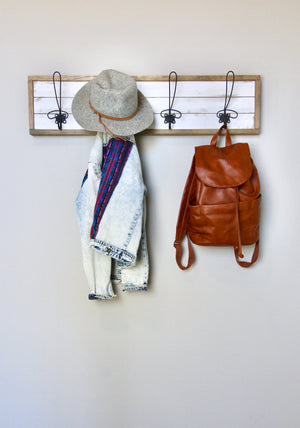 DIY Shiplap Coat Rack