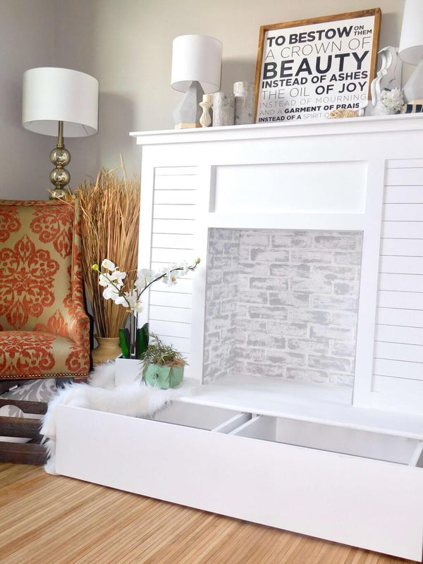 Faux Fireplace With Hidden Storage Handmade Haven