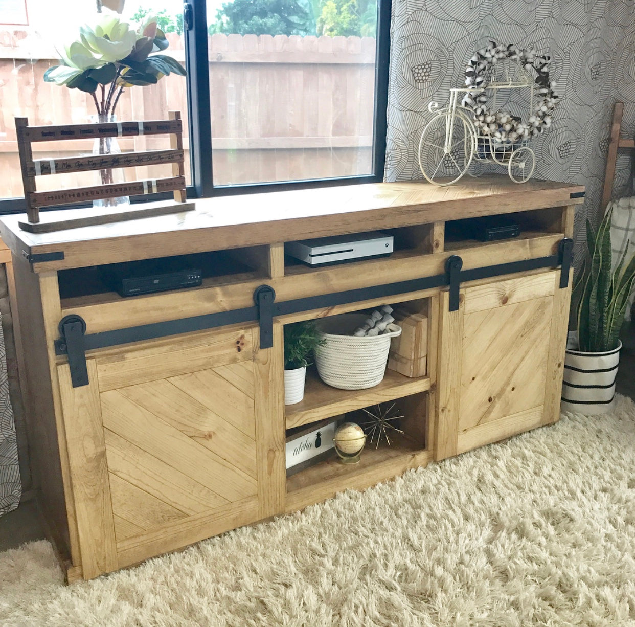 Well-liked Barn Door TV Console - Handmade Haven HZ26