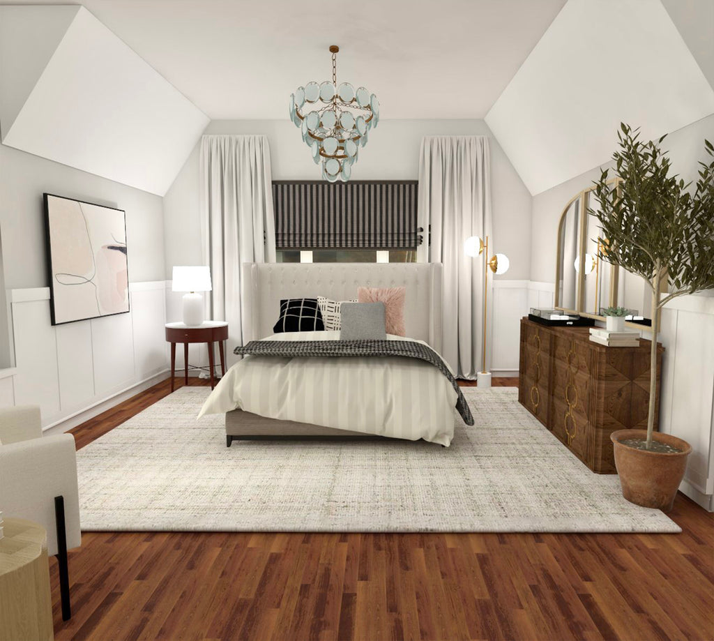 Cozy Farmhouse Bedroom | E-Design
