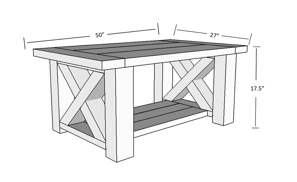 Coffee Table Plans.Diy Chunky Farmhouse Coffee Table Free Plans Handmade Haven