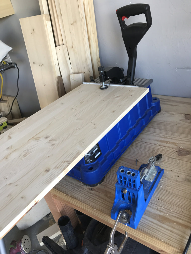 Kreg Jig Foreman creating pocket holes