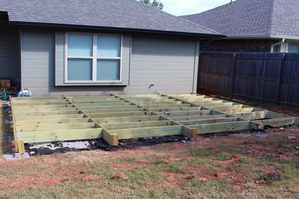 Backyard Makeover Floating Deck