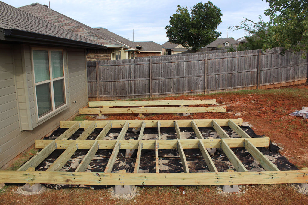 DIY Floating Deck project for the backyard
