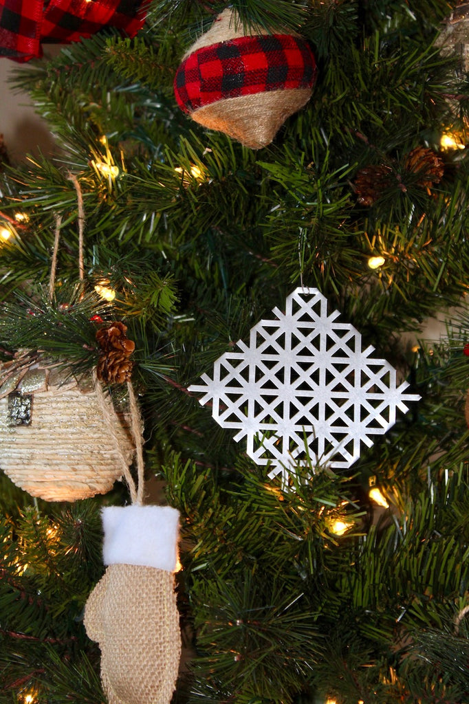 Metal Christmas Snowflake Ornaments for the Holiday Tree