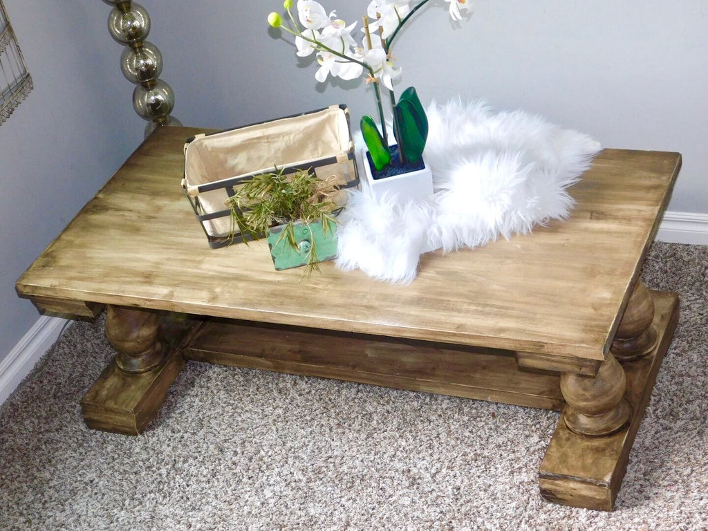 Farmhouse Coffee Table with Osborne Wood turned legs