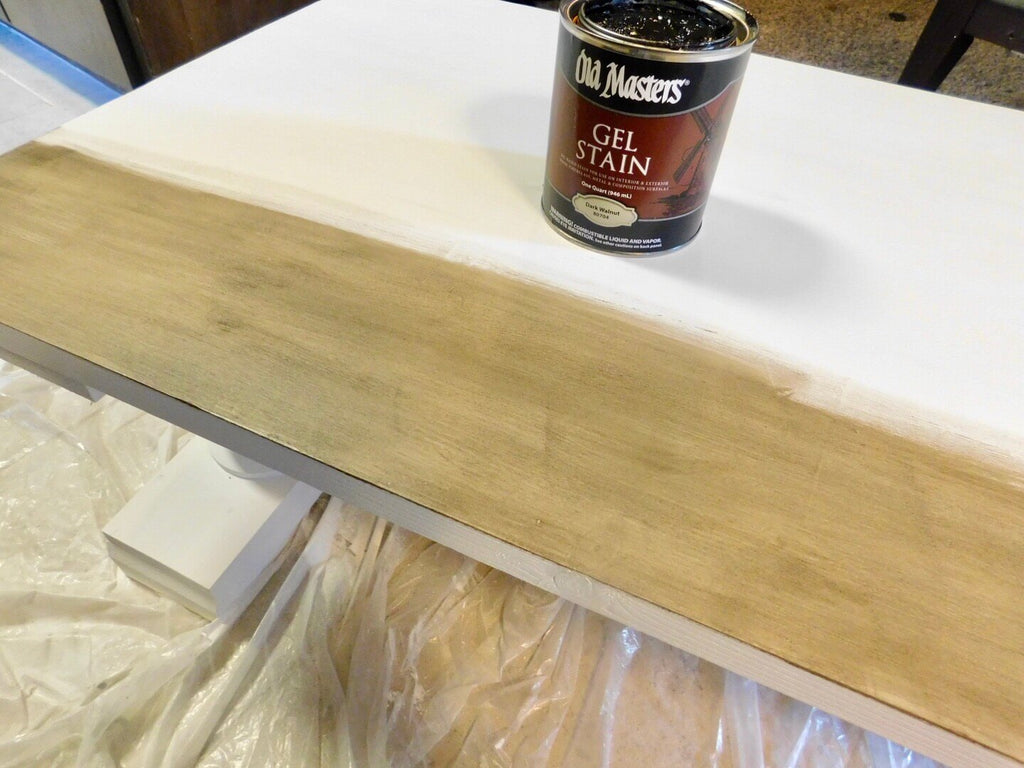Coffee Table coated with Annie Sloan Chalk Paint and Gel Masters Stain