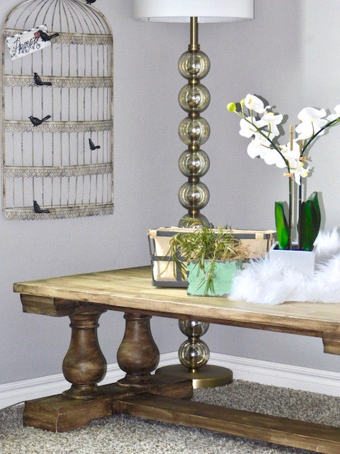 DIY Coffee Table Farmhouse style with Osborne Wood Turned Legs Balustrade