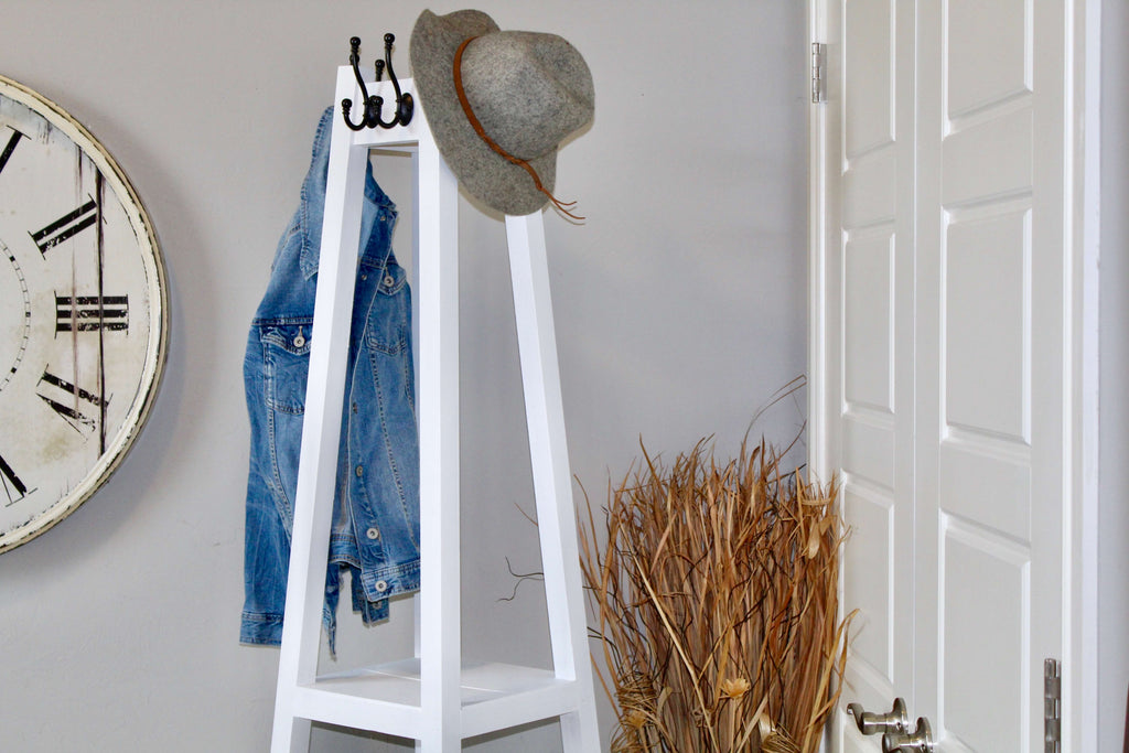 DIY Coat Rack for the home entryway