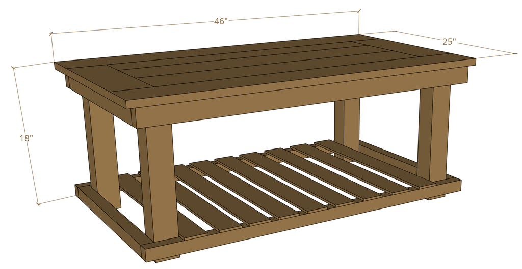 DIY Industrial Coffee Table Woodworking Plans
