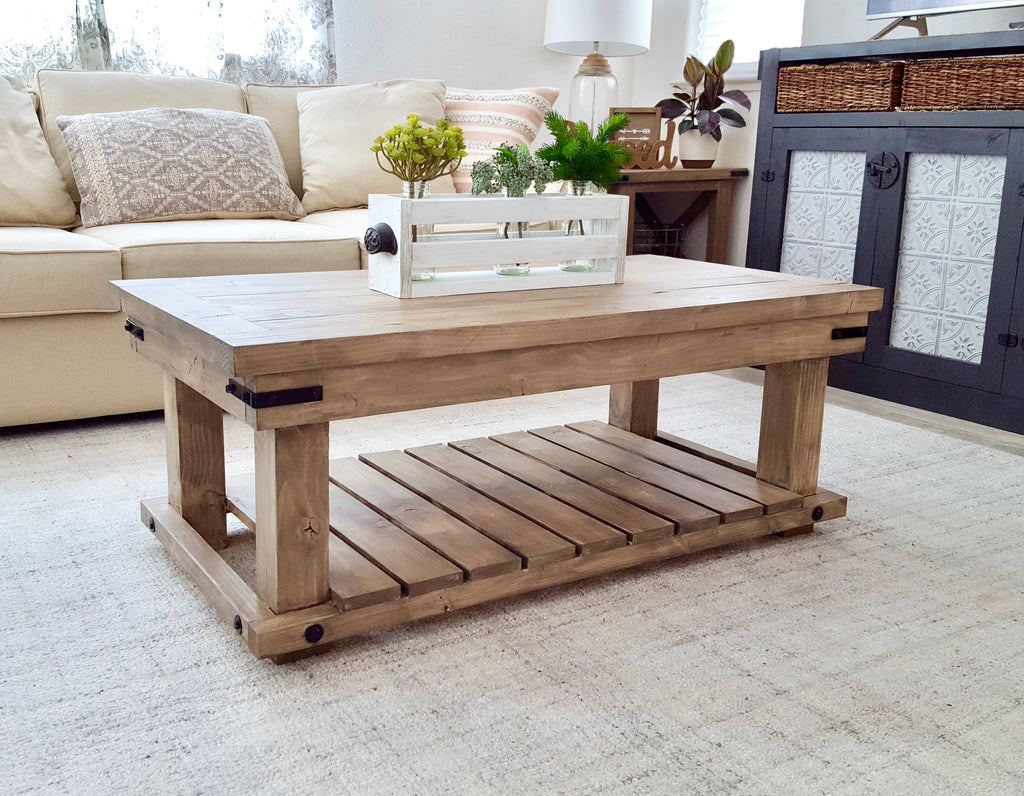DIY Industrial Coffee Table - Handmade Haven on Coffee Table Plans  id=74805