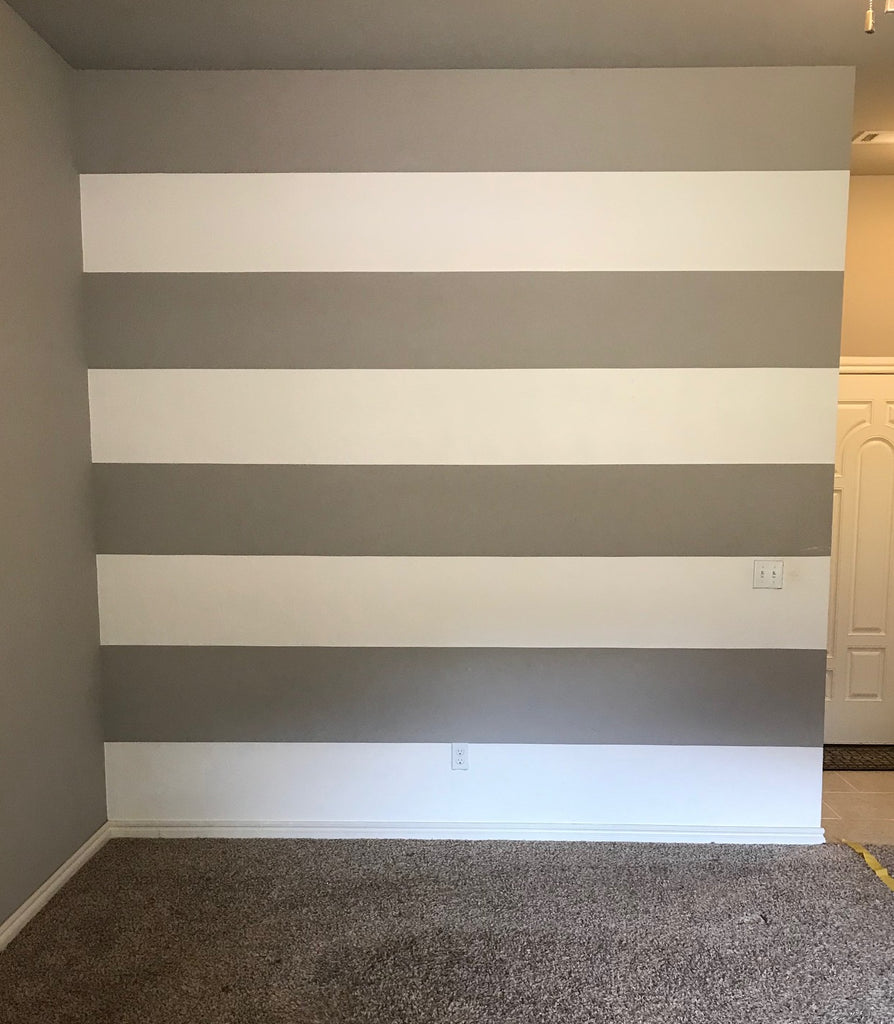 DIY Striped Wall
