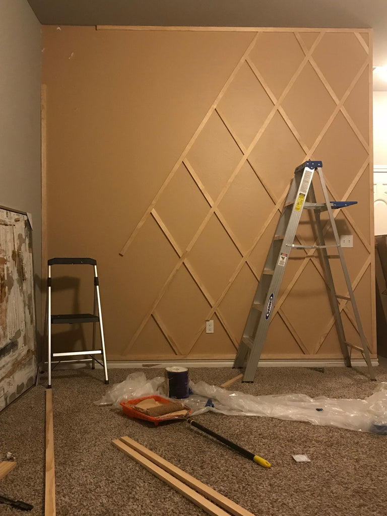 DIY Paneled Wall