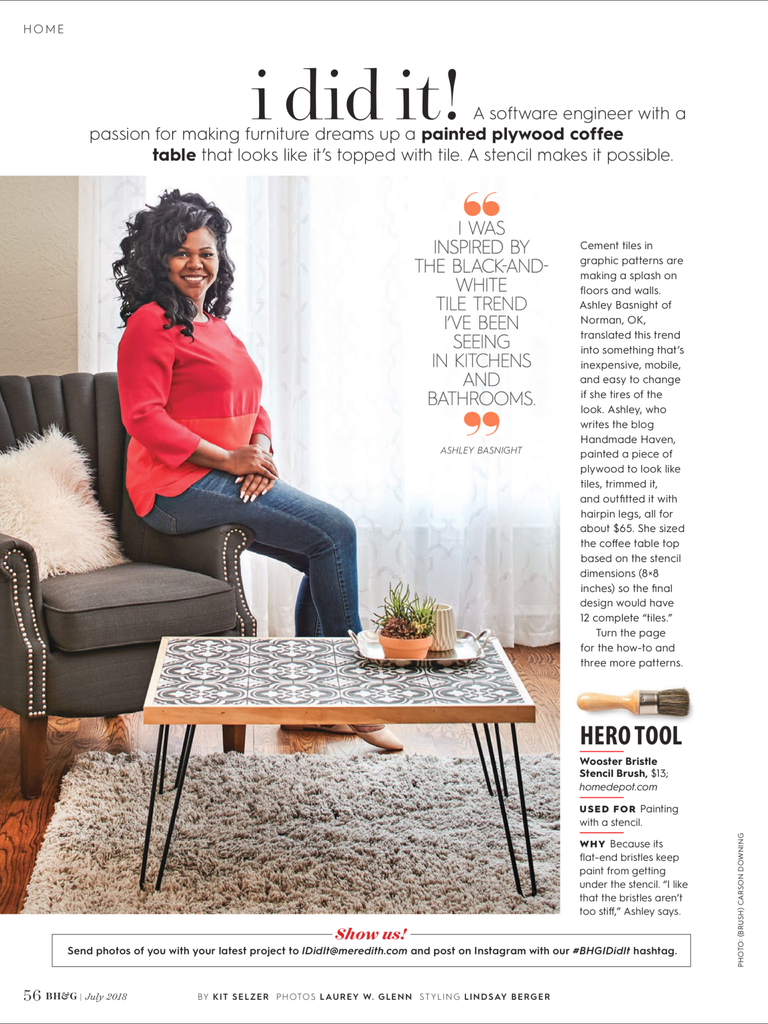 I did it better Homes and Gardens feature