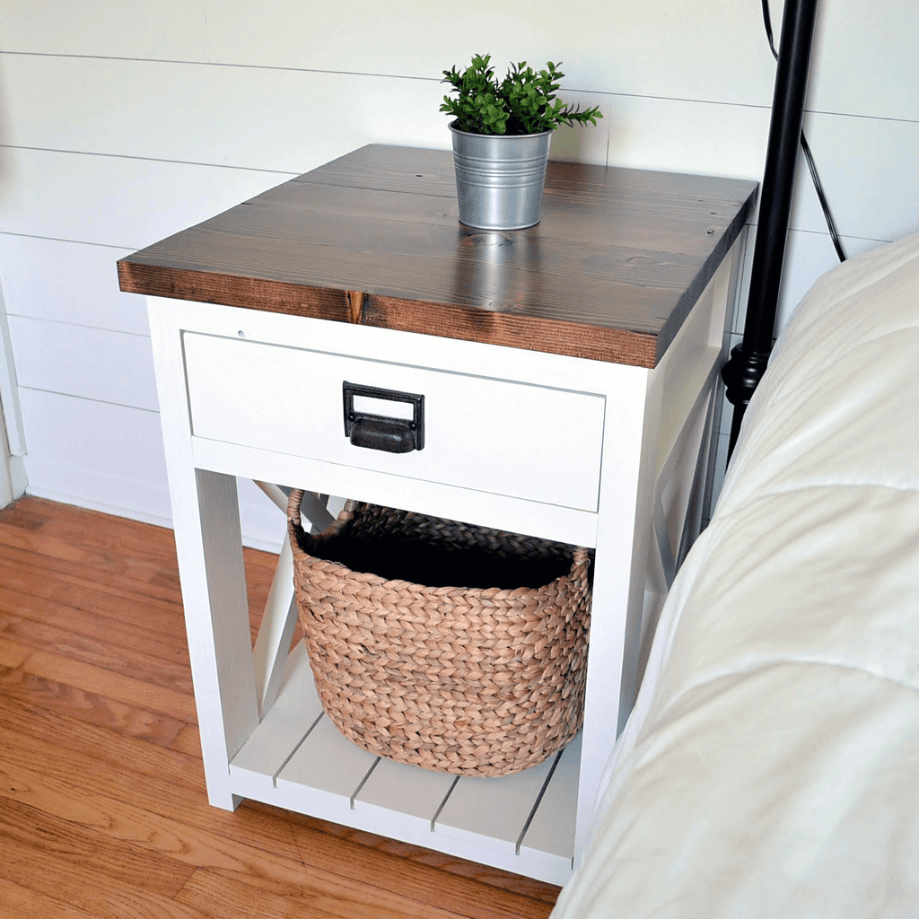 Farmhouse Nightstand Diy Nightstand Plans Handmade Haven