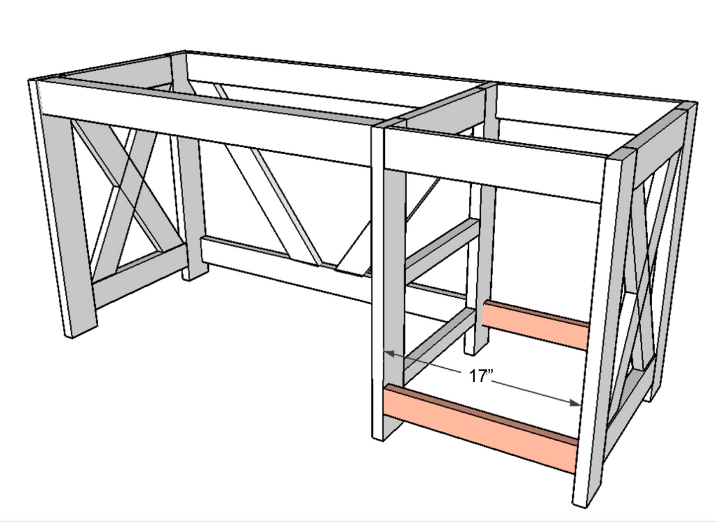 DIY Office Desk plans to build a home office desk