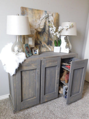 Hidden Shoe Cabinet - Free Woodworking Plans