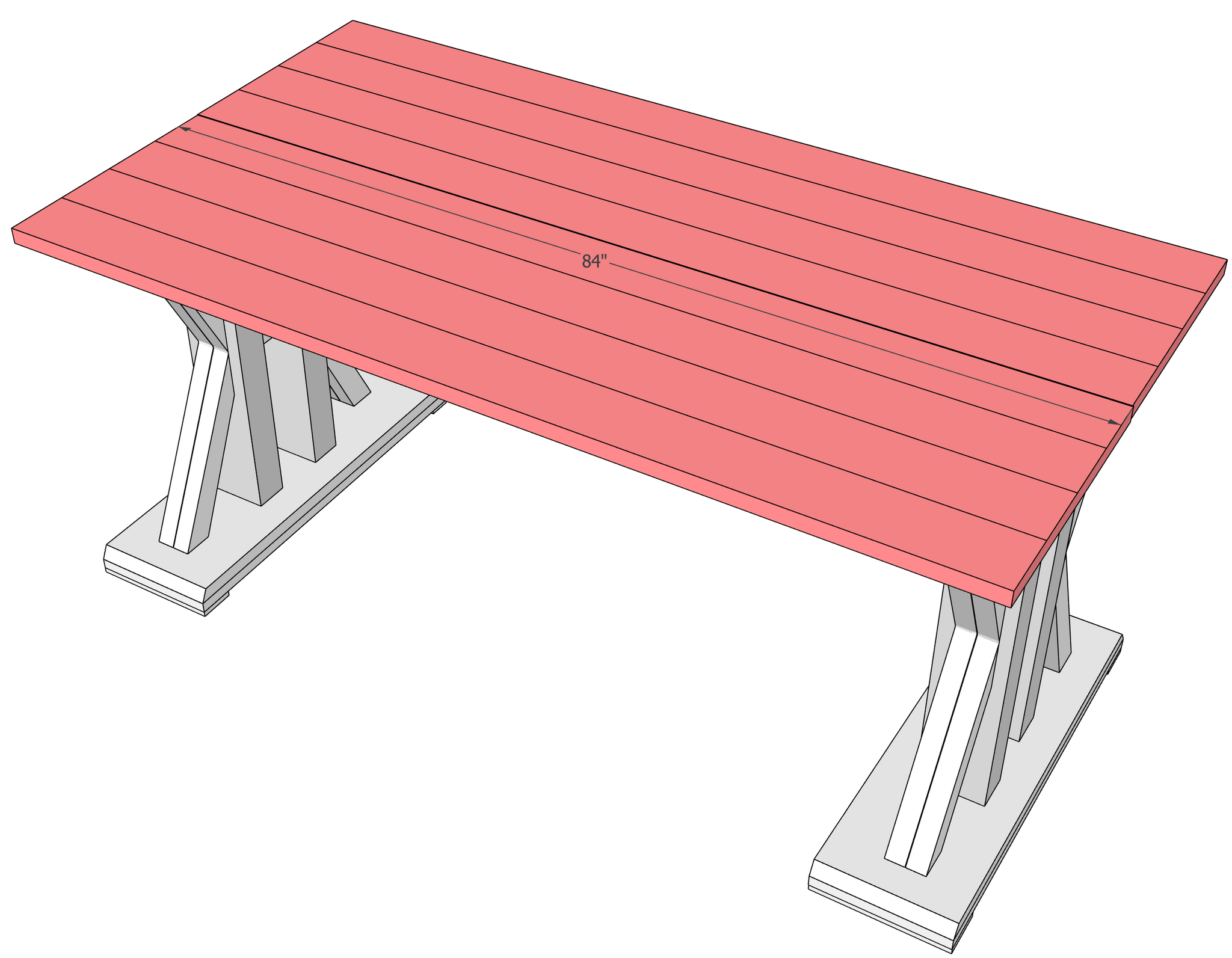 French Farmhouse Dining Table Woodworking Plans
