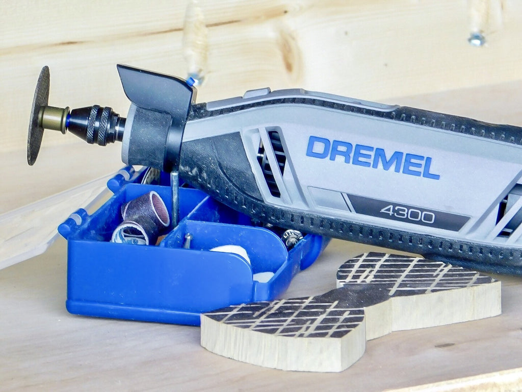 Dremel 4300 Series used to make a wooden bowtie