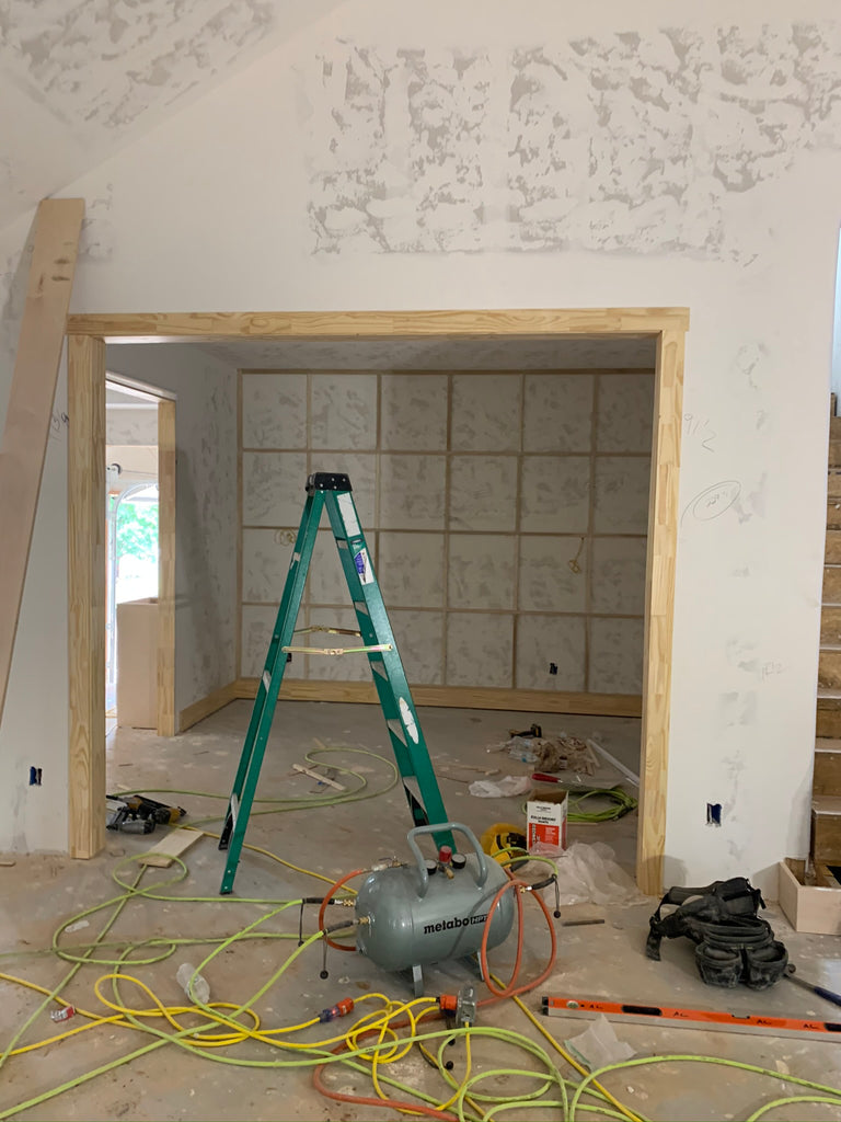 DIY Mirrored wall framing