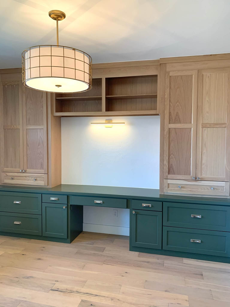 Home Office with custom Built ins