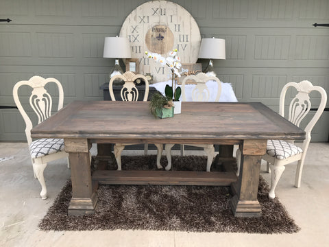 Farmhouse Dining Table with Chairs
