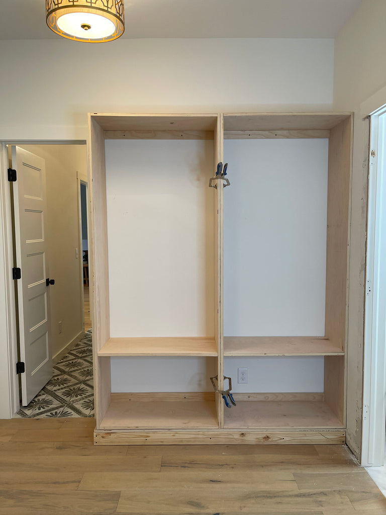 DIY Built Ins for a master walk in closet