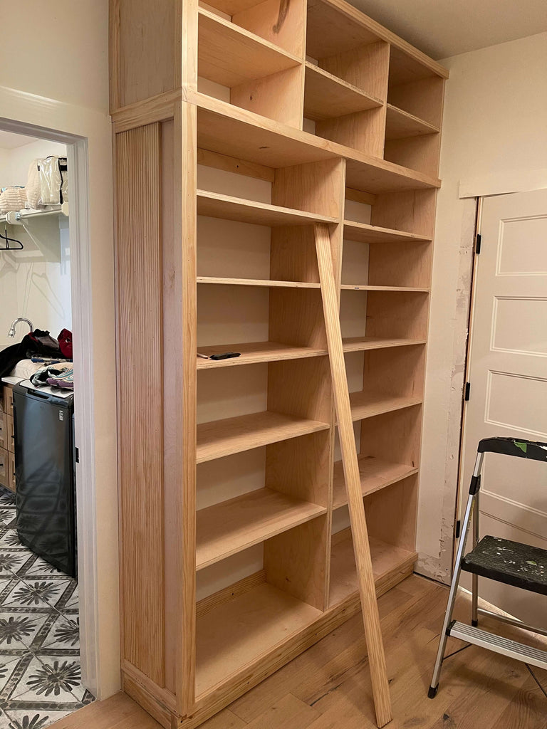 Adding fluted casing to master closet built in